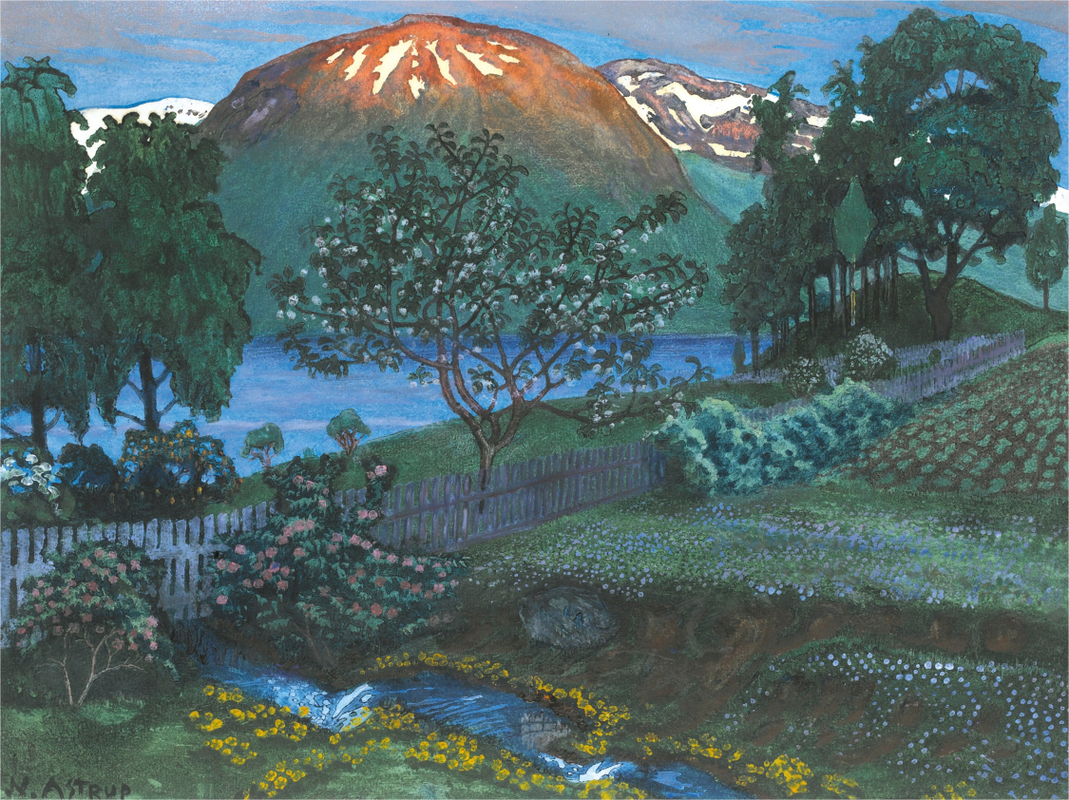 Nikolai Astrup - JUNINATT I HAVEN (A NIGHT IN JUNE IN THE GARDEN)