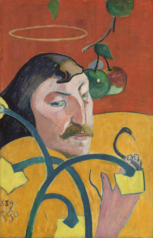 Paul Gauguin - Self Portrait with Halo and Snake