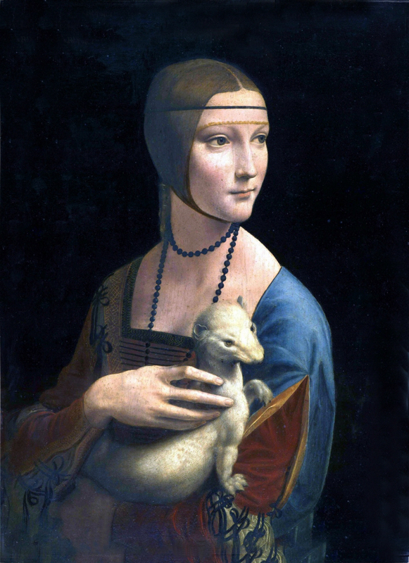Leonardo Da Vinci - Lady with an ermine Portrait of Cecilia Gallerani 1484-1490