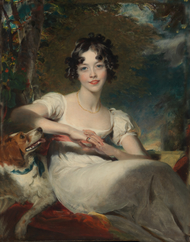 Sir Thomas Lawrence - Lady Maria Conyngham (died 1843)(92.1 x 71.8 cm)