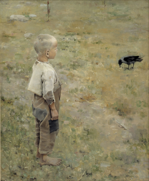 Akseli Gallen-Kallela - Boy with a Crow
