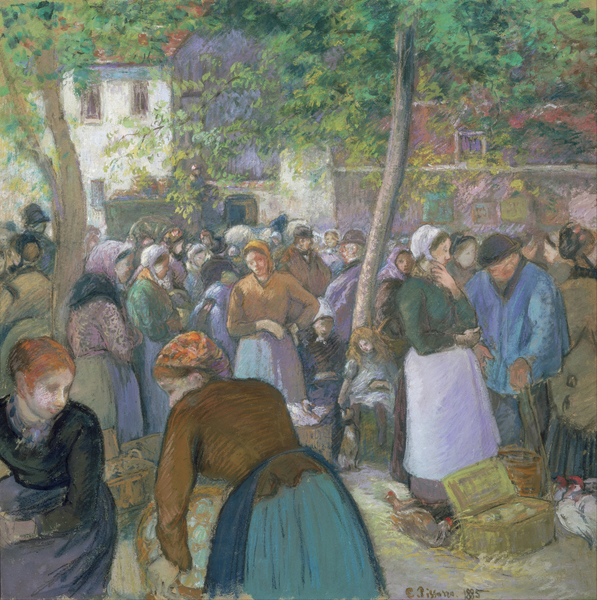 Camille Pissarro - Poultry Market at Gisors  1830-1903