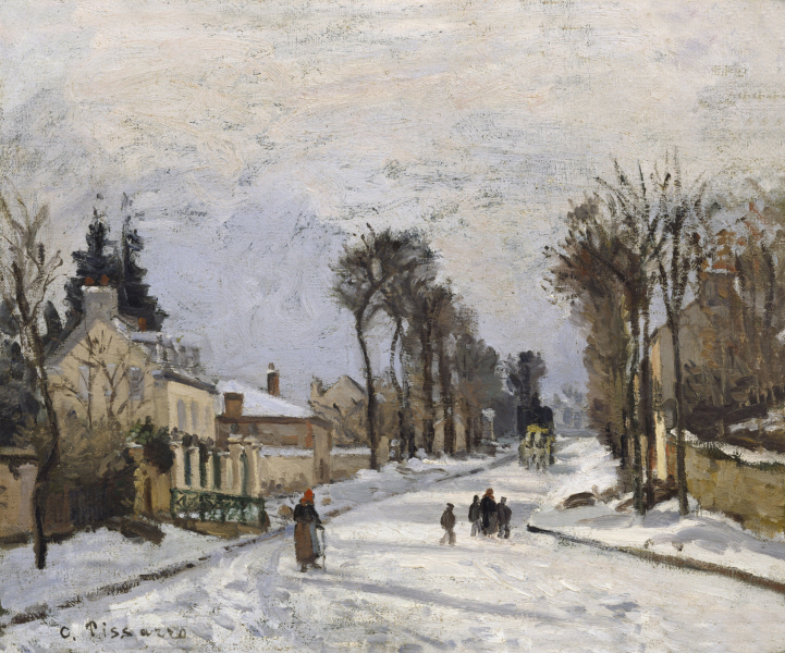 Camille Pissarro - Road to Versailles at Louveciennes 1869