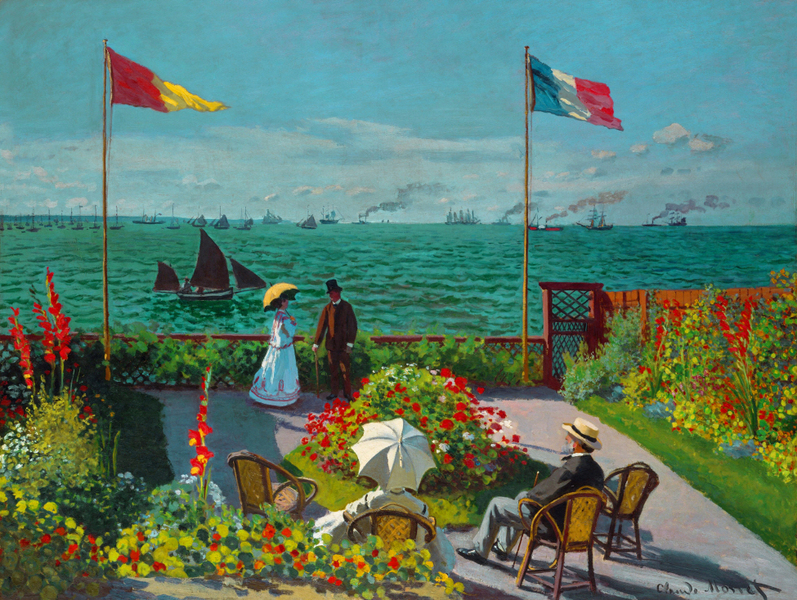Claude Monet - Garden at Sainte Adresse