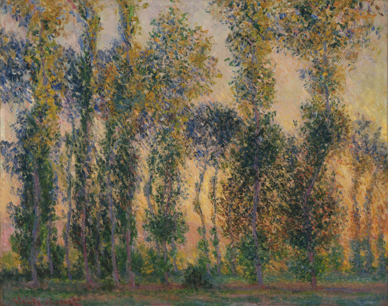 Claude Monet - Poplars at Giverny, Sunrise