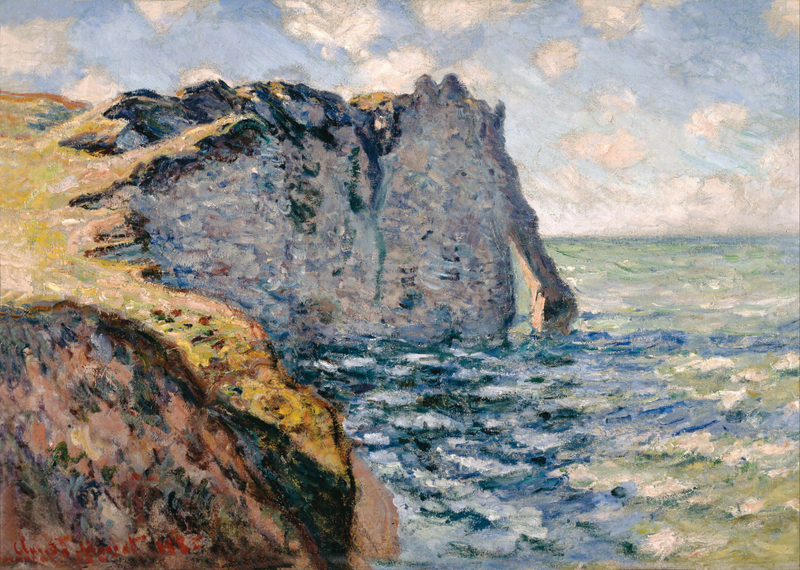 Claude Monet - The Cliff of Aval, Etrétat