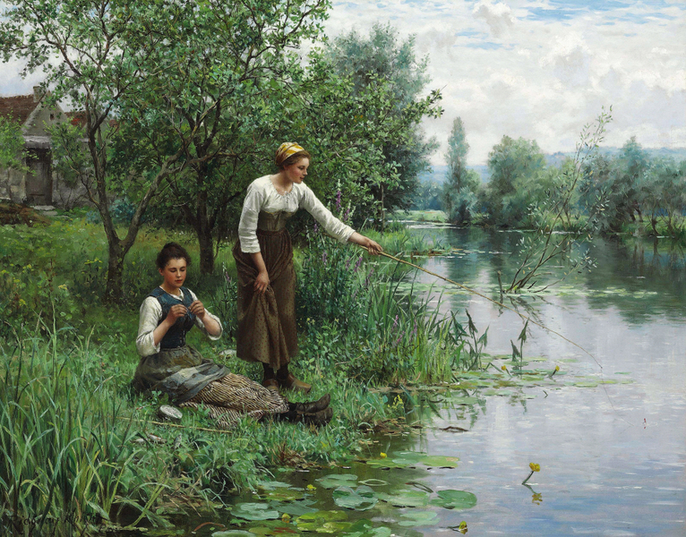 Daniel Ridgway Knight - Two Women Fishing