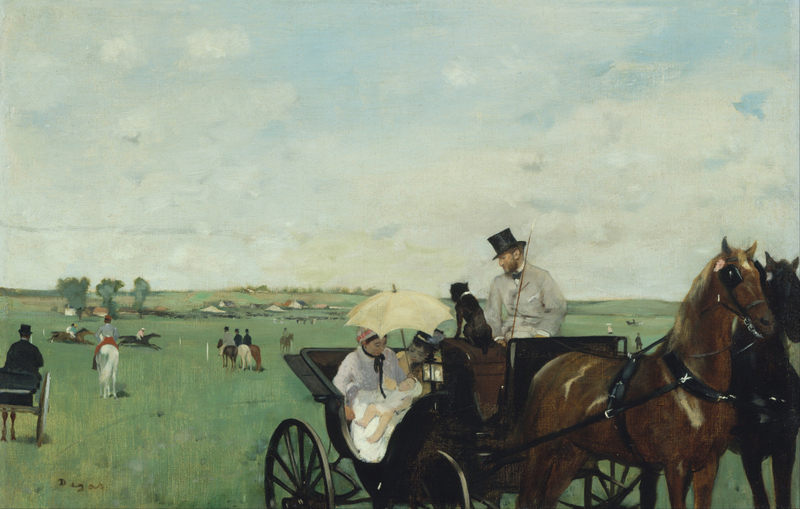 Edgar Degas - At the Races in the Countryside