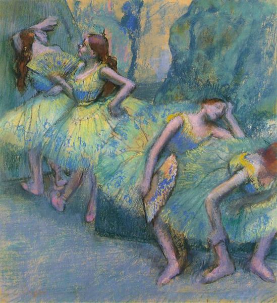 Edgar Degas - Ballet Dancers in the Wings-1