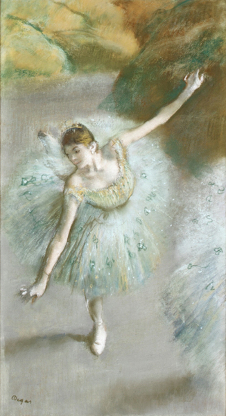 Edgar Degas - Dancer in Green