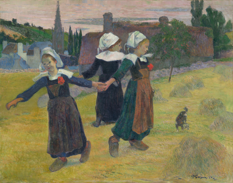Paul Gauguin - Breton Girls Dancing, Pont Aven