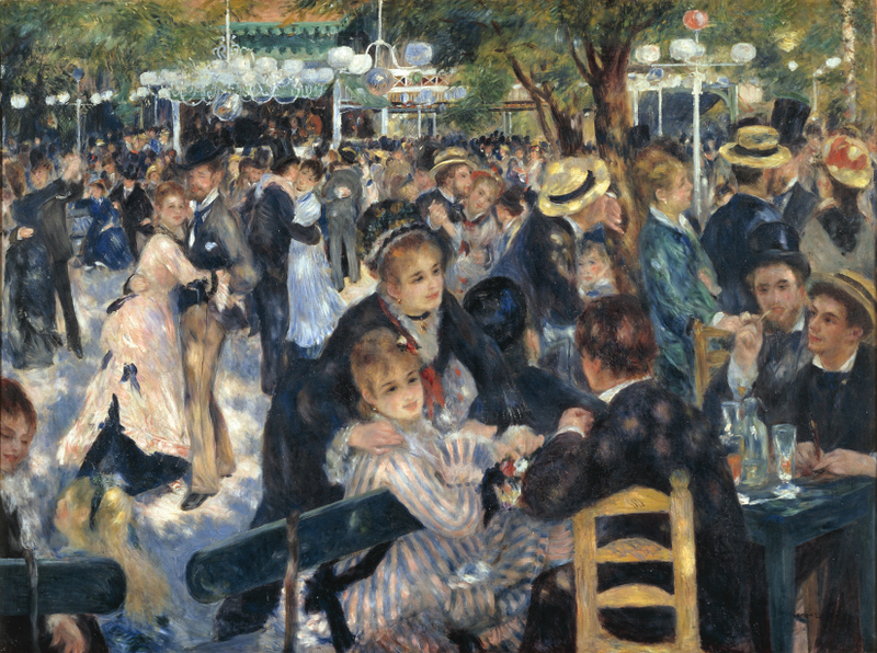 Pierre-Auguste Renoir - ball at the moulin de la galette(물랭 드 라 갈레트의 무도회)