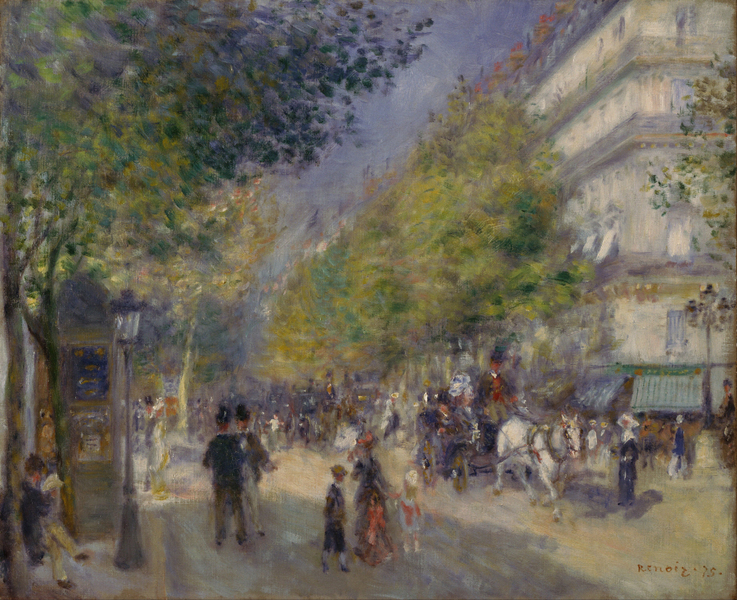 Pierre-Auguste Renoir - French - The Grands Boulevards