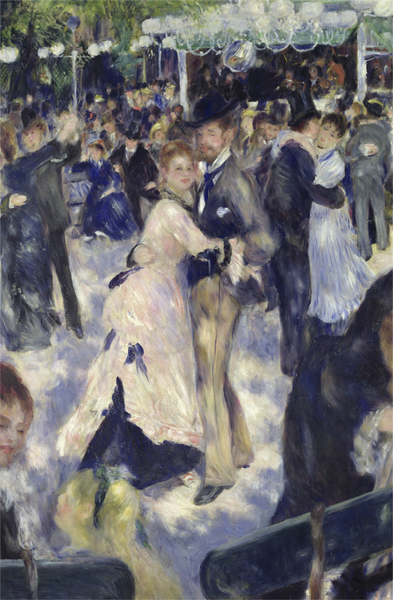Pierre-Auguste Renoir - Le Moulin de la Galette, detail of the dancers
