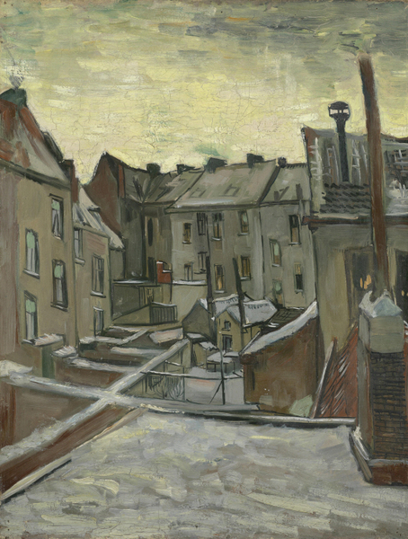 Vincent van Gogh  - Houses Seen from the Back