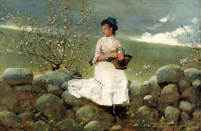 Winslow Homer - Peach Blossoms, 1878