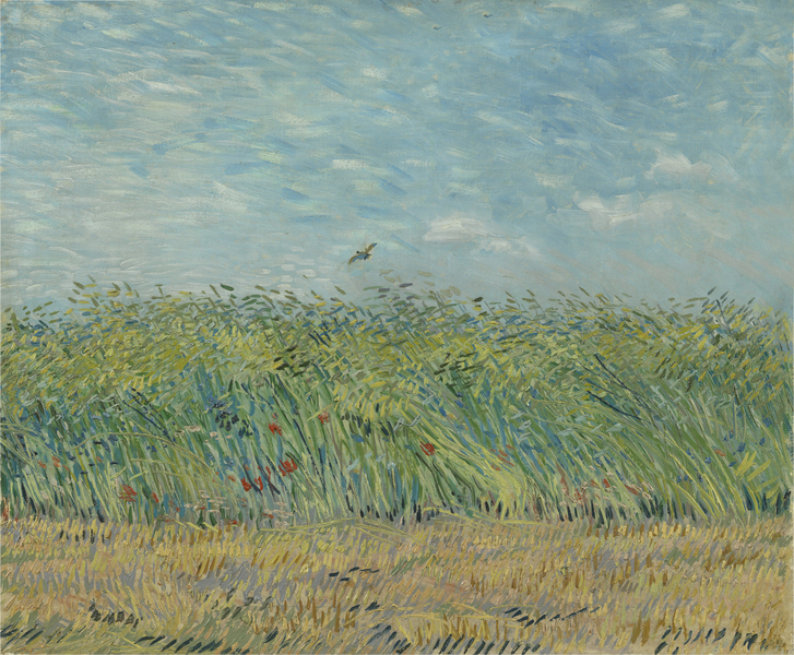 회전_Vincent Van Gogh - Wheatfield with Partridge
