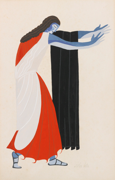 Alexandra Exter - COSTUME DESIGN FOR SEVEN AGAINST THEBES 1882–1949