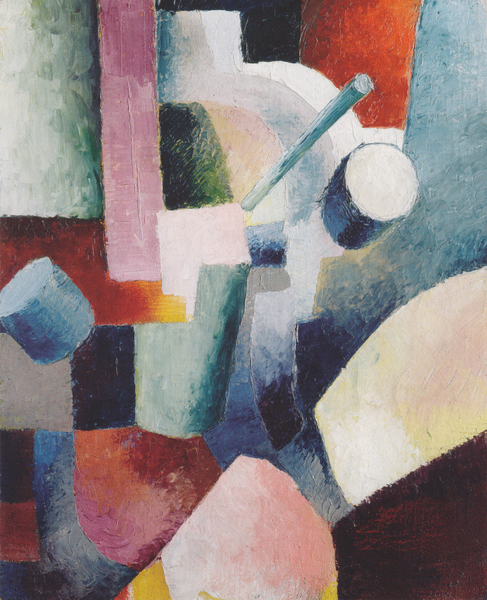 August Macke - Farbige Formenkomposition