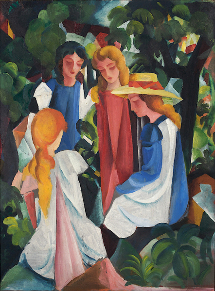August Macke - Four Girls