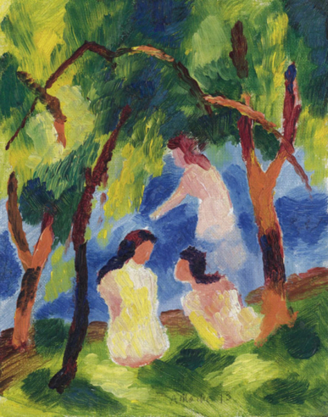 August Macke - Tree Girls