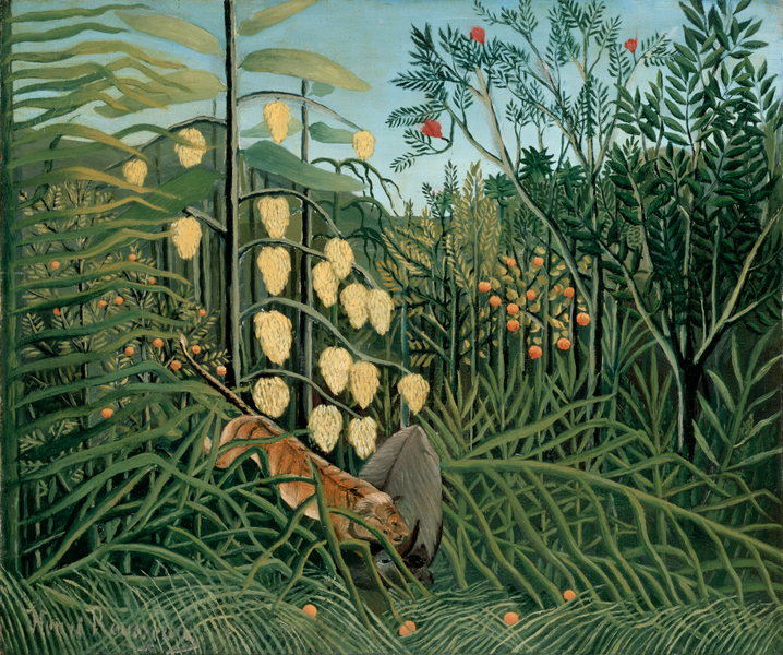 Henri Rousseau - In a Tropical Forest. Struggle between Tiger and Bull