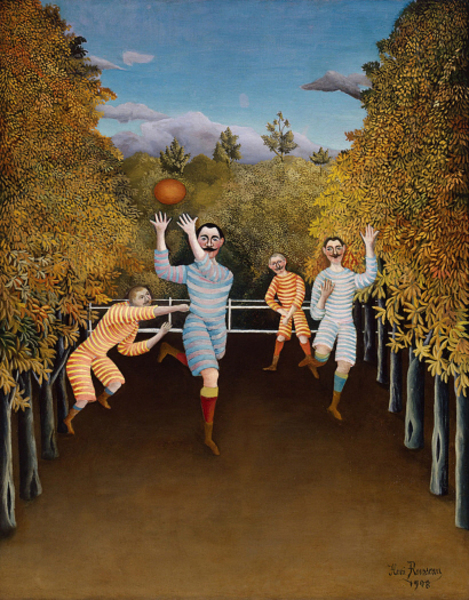 Henri Rousseau - The Football Players