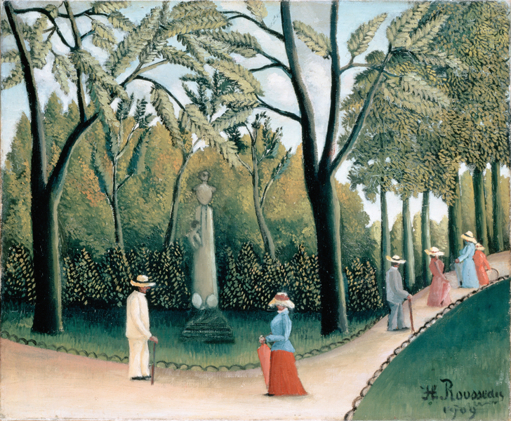 Henri Rousseau - The Luxembourg Gardens. Monument to Shopin
