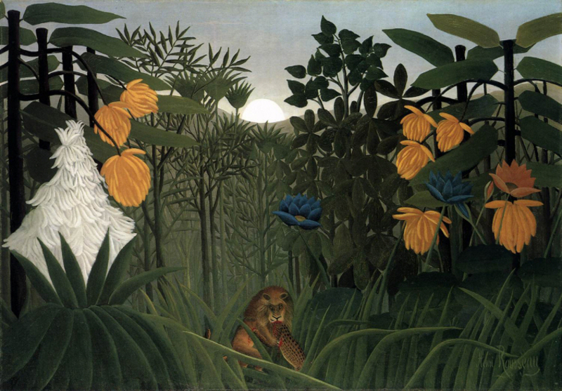 Henri Rousseau - The Repast of the Lion