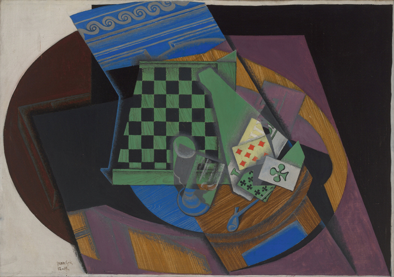 Juan Gris - Damier et cartes à jouer (Checkerboard and playing cards) 1887-1927
