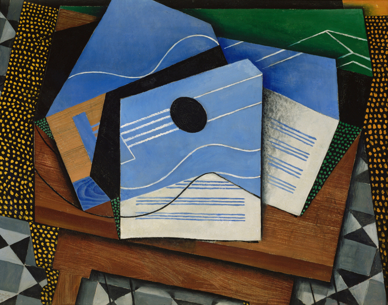 Juan Gris - Guitar on a table  1887 – 1927