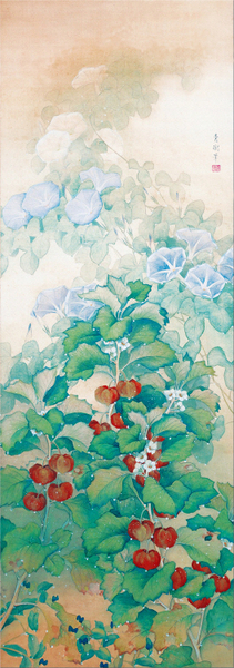 Omoda Seiju(1891-1933) - Morning Dew1,428x503 mm Adachi Museum of Art