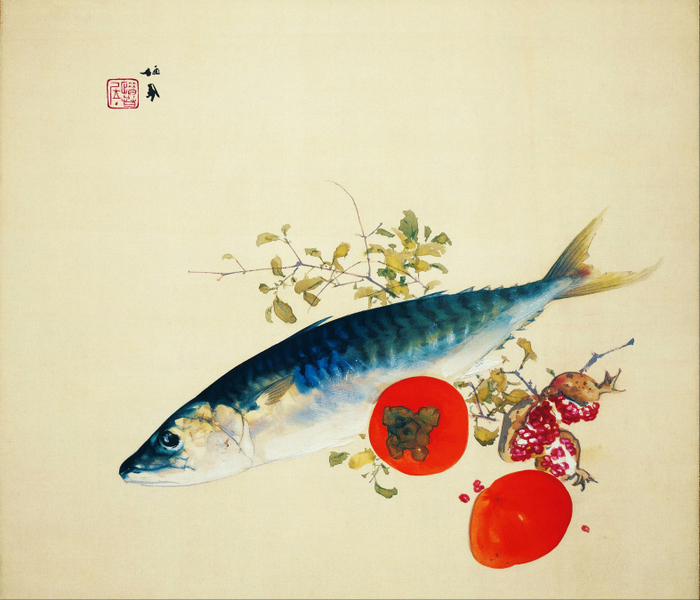Takeuchi Seihō - Autumn Fattens Fish and Ripens Wild Fruits