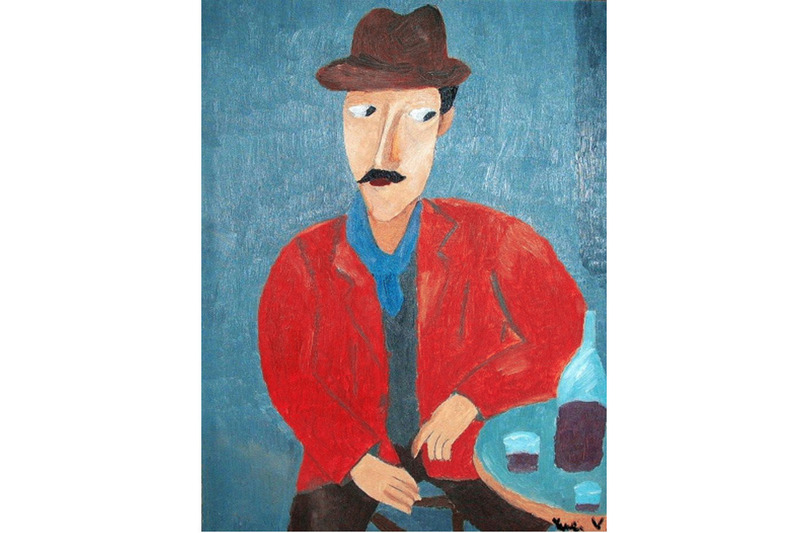 Amedeo Modigliani - Copia di un dipinto di Amedeo Modigliani