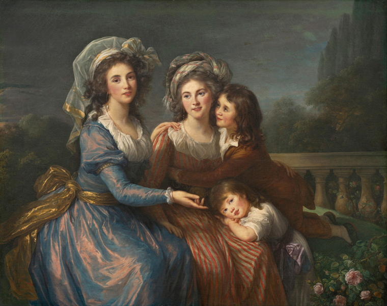Elisabeth Louise Vigee Le Brun - The Marquise de Pezay, and the Marquise de Rouge with Her Sons Alexis and Adrien