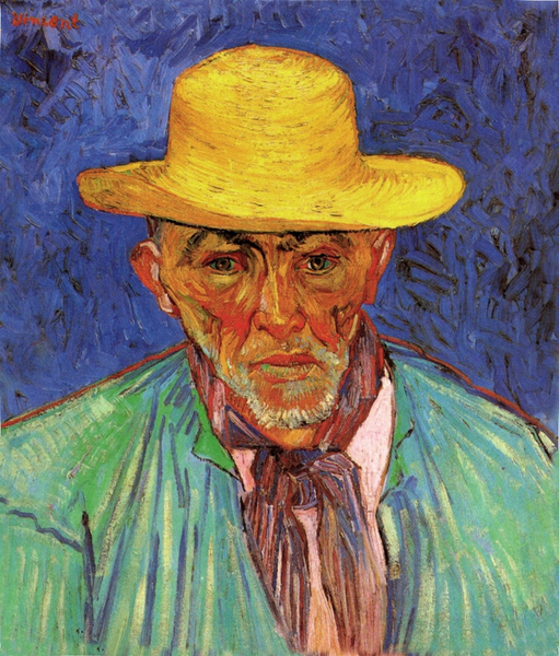 Vincent van Gogh - Portrait of Patience Escalier, Shepherd in Provence, 1888 - 복사본
