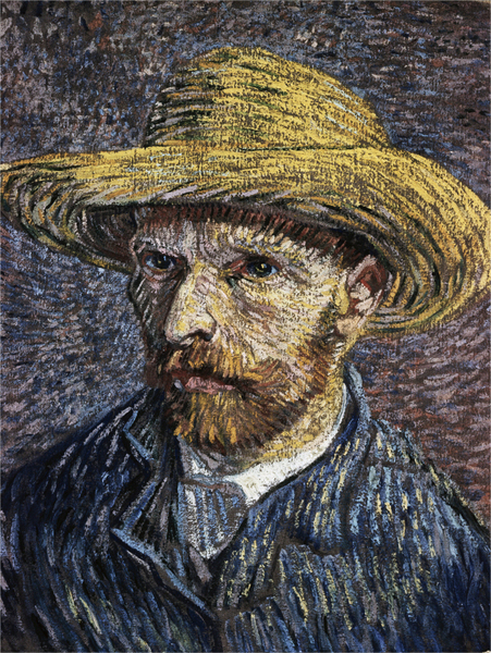 Vincent van Gogh - Self-Portrait with Straw Hat