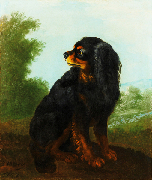 Jacques-Charles Oudry - PORTRAIT DE CAVALIER KING CHARLES