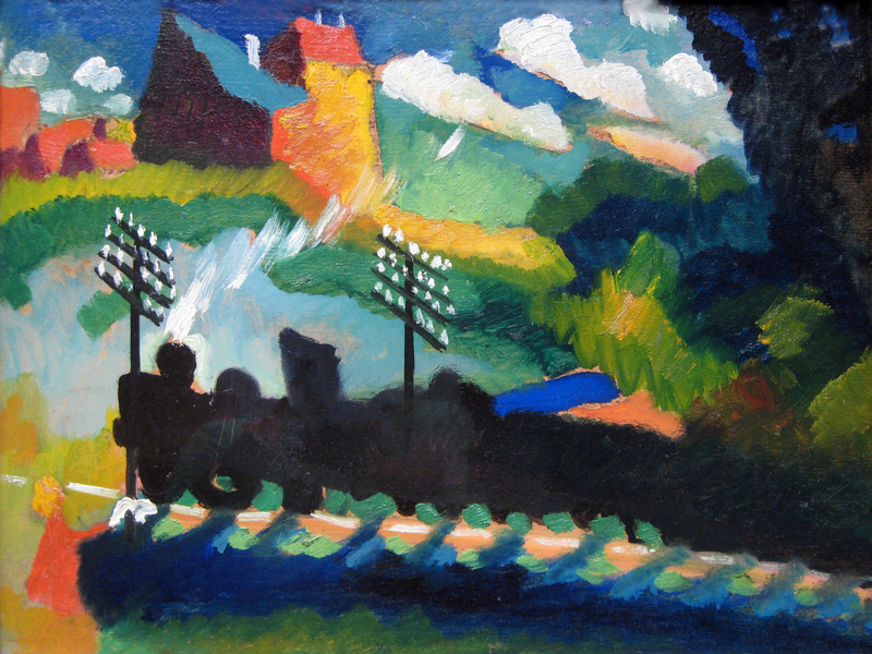 Wassily Kandinsky -  Railroad at Murnau