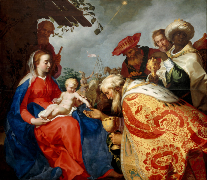 Abraham Bloemaert - The adoration of the Magi