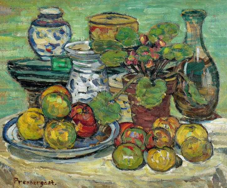 Maurice Prendergast - Still life with apples