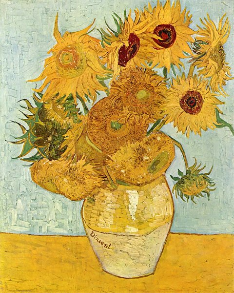 Vincent van Gogh - Still Life - Vase with Twelve Sunflowers, 1889(2)
