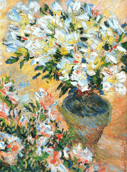 Claude-monet-white-azaleas-in-a-pot