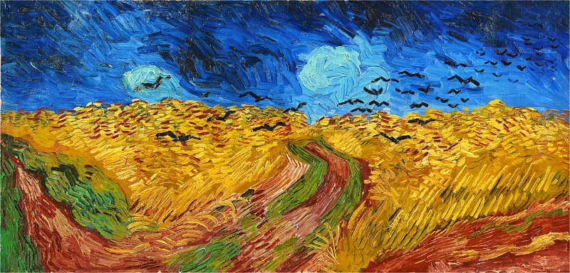 회전_Vincent van Gogh - Wheatfield with Crows
