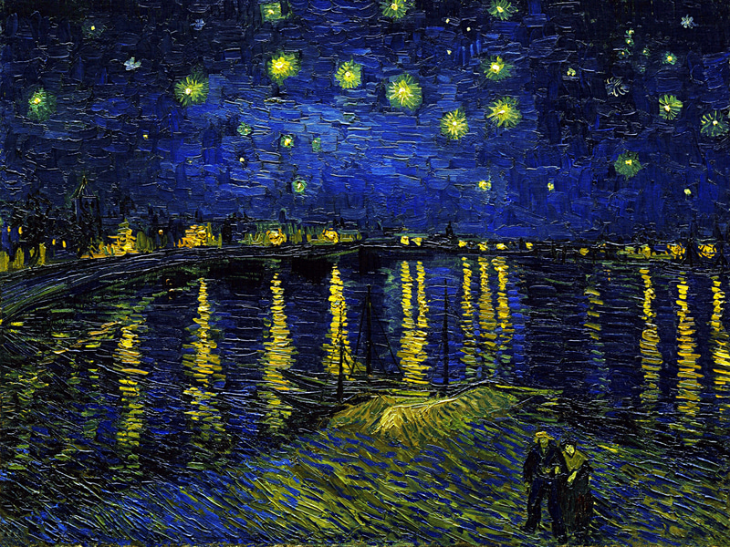 Vincent Van Gogh - Starry Night Over the Rhone-2