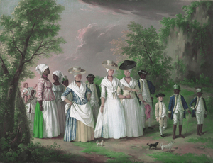 Agostino Brunias - Free Women of Color with their Children and Servants in a Landscape