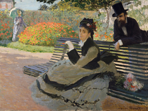 Claude Monet - Camille Monet on a Bench