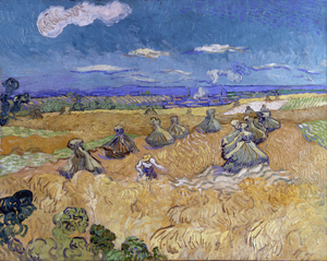 Vincent van Gogh - Wheat Fields with Reaper, Auvers