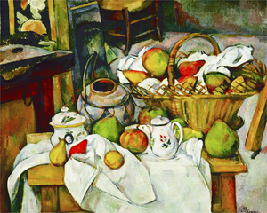 Paul Cézanne - Still life with basket