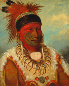 George Catlin - The White Cloud, Head Chief of the Iowas  1796 – 1872